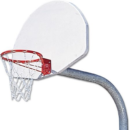 Outdoor Basketball System With 4' White Backboard