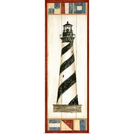 Great BIG Canvas | Rolled Ethan Harper Poster Print entitled Americana Lighthouse II