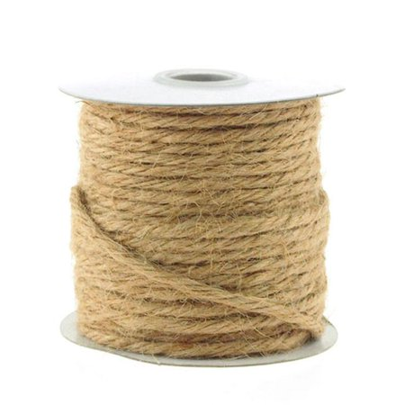 Jute Twine Cord Rope Ribbon, 1/8-inch, 25-yard, Natural