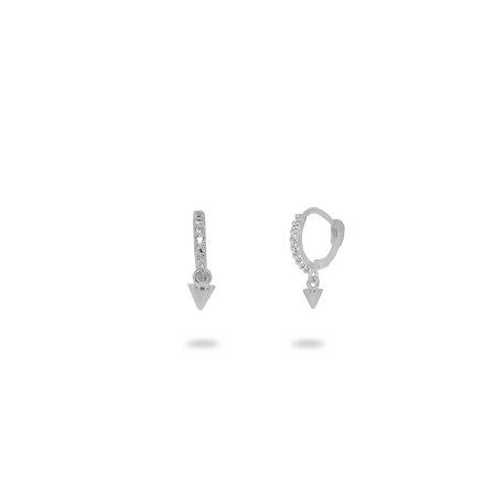 FRONAY Sterling Silver Mini Hinged Huggie Hoop Earrings for Girls, Women, Dangling Bullet
