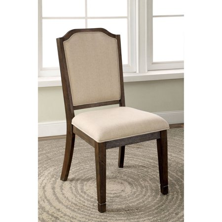 Furniture of America Alivia Transitional Fabric Dining Chair, Ivory, 2pk ()