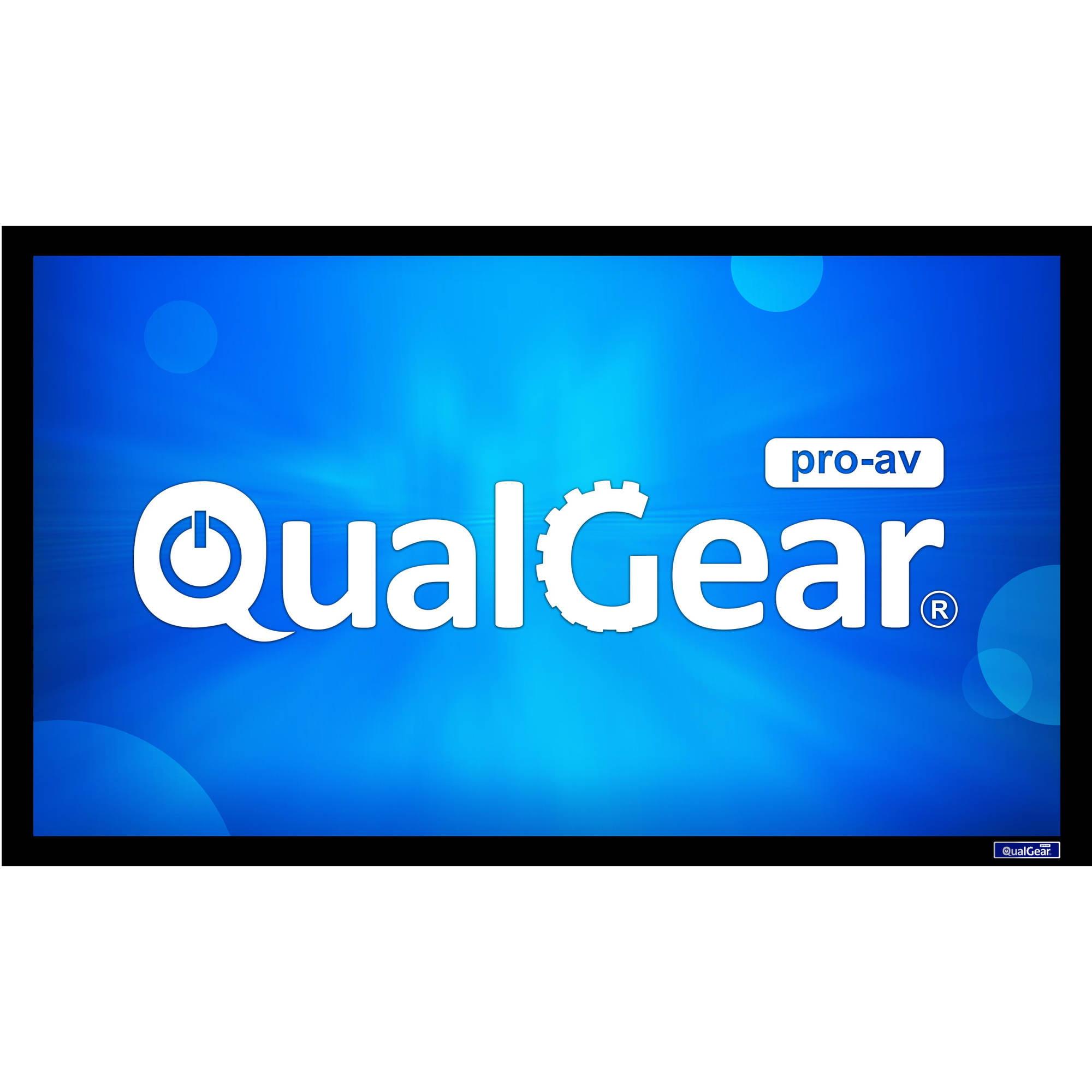 "QualGear 110"" Fixed Projector Screen, 16:9 HDTV, 6-Piece Aluminum Frame, 6cm Premium Velvet Border by QualGear"