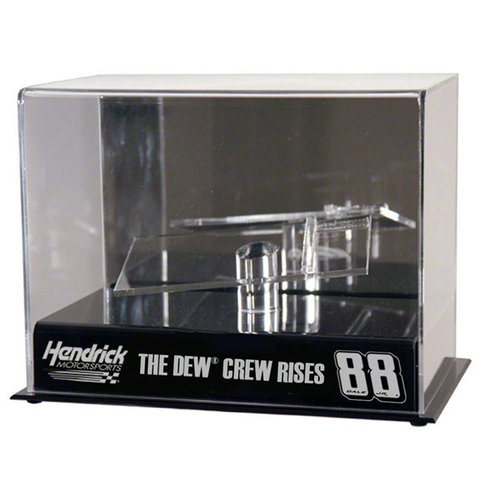 "Dale Earnhardt Jr. 1 24th Diecast Display Case | Details: ""#88 Dew Crew"" with Platform by Mounted Memories"