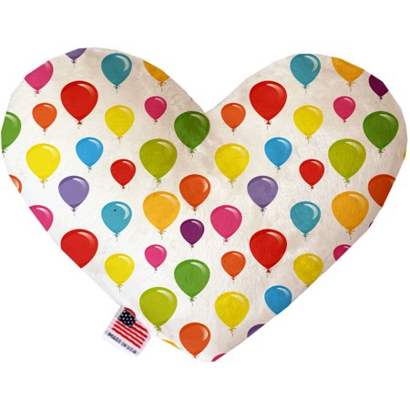 Balloons 6 Inch Canvas Heart Dog Toy