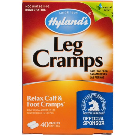 Hyland's Leg Cramp Caplets, Natural Calf, Leg and Foot Cramp Relief, #1 Pharmacist Recommended Leg Cramp Relief, 40