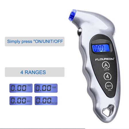 FLOUREON MD - 01  Portable Digital LCD Tire Tyre Wheel Air Pressure Gauge Tester Tyre Air Pressure Gauge Tester Tool for Car Truck -