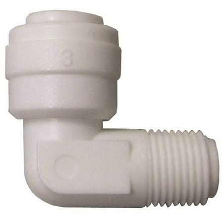 Watts PL Tube Elbow, 90 deg, 1/4 X 1/8 in, Quick Connect X MIP, 150 psi, Nylon, 70 deg F