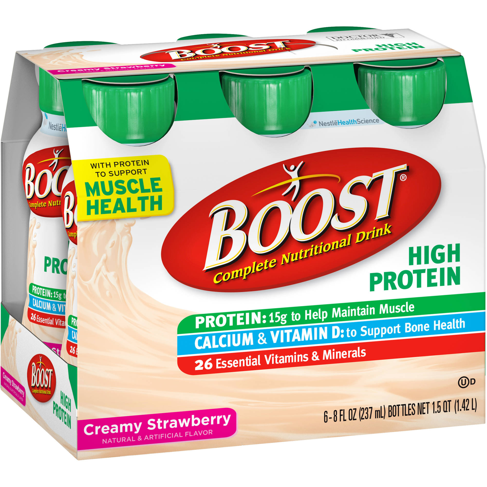 Boost High Protein Strawberry Nutritional Energy Drink, 6pk