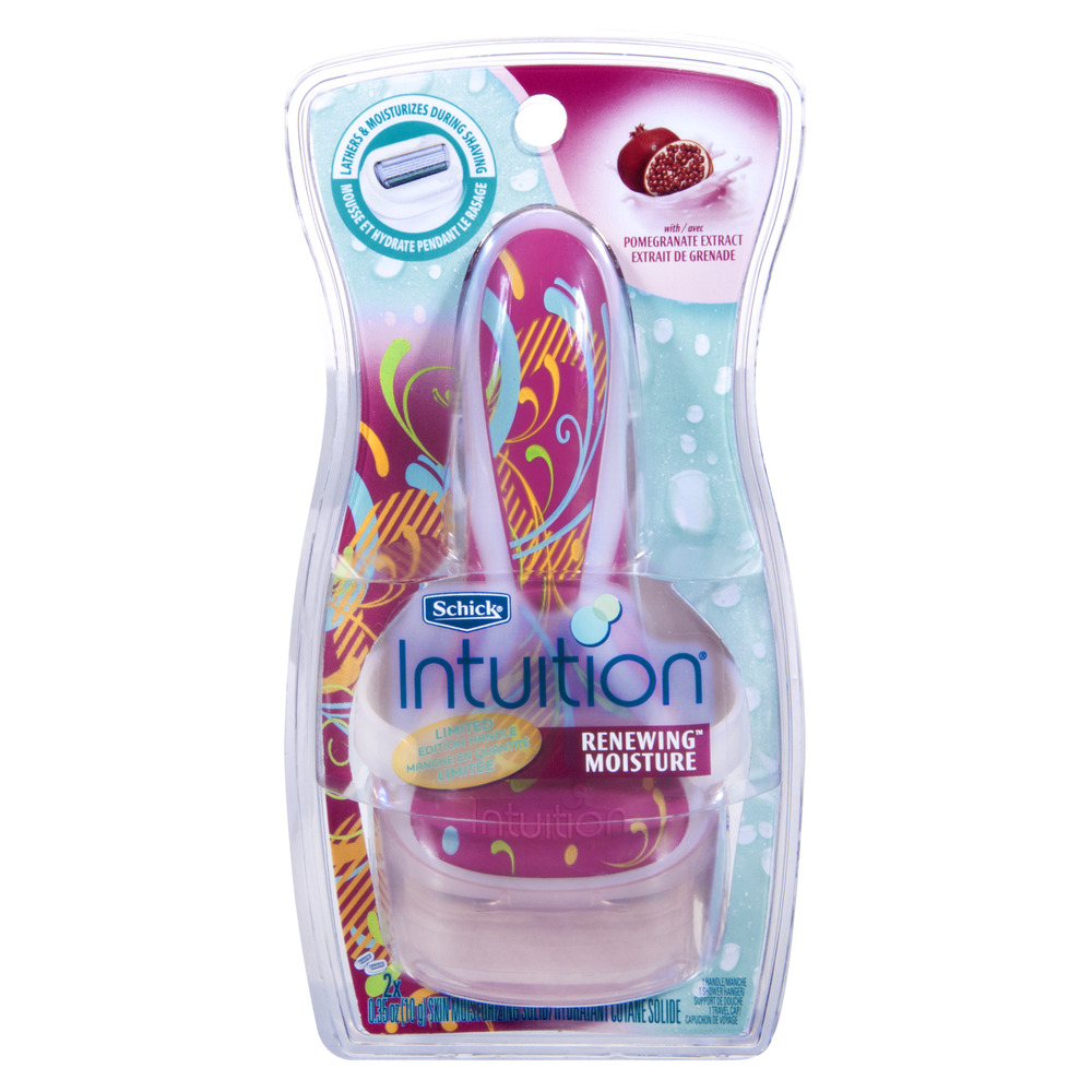 Schick Intuition Renewing Moisture with Pomegranate Extract Razor, 1.0 PACK