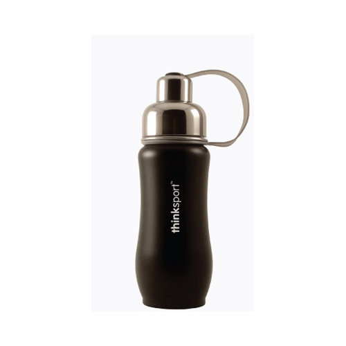 Thinksport Stainless Steel Sports Bottle - Black - 12 oz