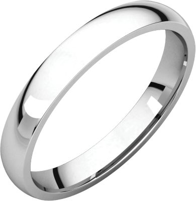 Platinum 3mm Light Comfort Fit Band Irl7 / Platinum / 03.00 Mm / Light Comfort Fit Band