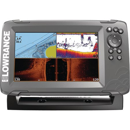 Lowrance 000-14294-001 HOOK-2 7 Fishfinder with TripleShot Transducer, US/Canada Nav+ Maps, CHIRP, DownScan Imaging & 7