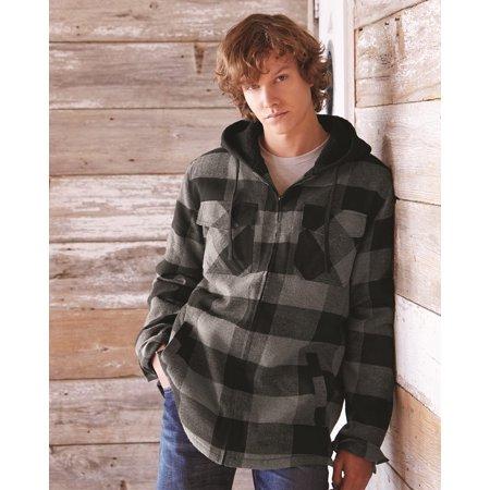 Burnside Quilted Flannel Full-Zip Hooded Jacket