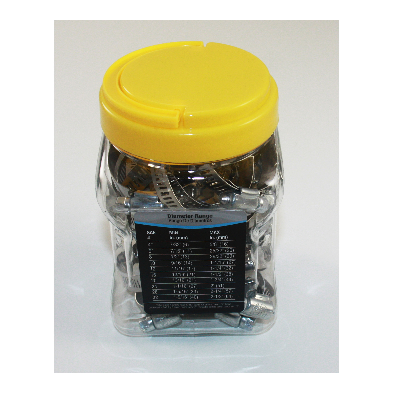 Cambridge Hose Clamp Assortment Jar Kit 30 Pieces