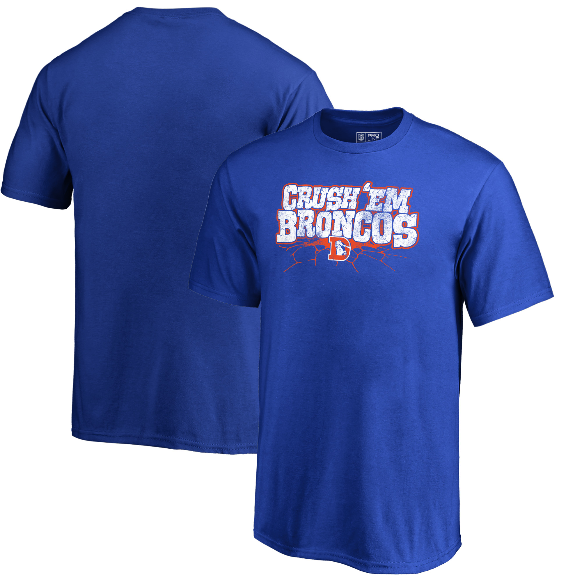 Denver Broncos NFL Pro Line by Fanatics Branded Youth Hometown Collection T-Shirt - Royal