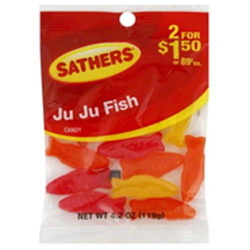 Sathers Ju Ju Fish 12 pack (4.2oz per pack) (Pack of 3)