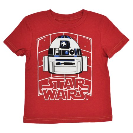 Toddler Boys Star Wars R2d2 Droid T Shirt Size 3T   Short Sleeve Red