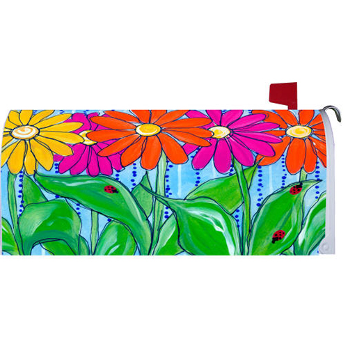 """ GERBERA WELCOME "" - Mailbox Makeover Vinyl Magnetic Cover"