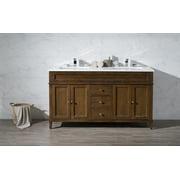 Stufurhome Hamilton 59 Inch Double Sink Bathroom Vanity