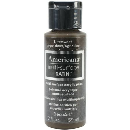 Americana multi surface satin acrylic paint 2oz for Craft smart acrylic paint walmart