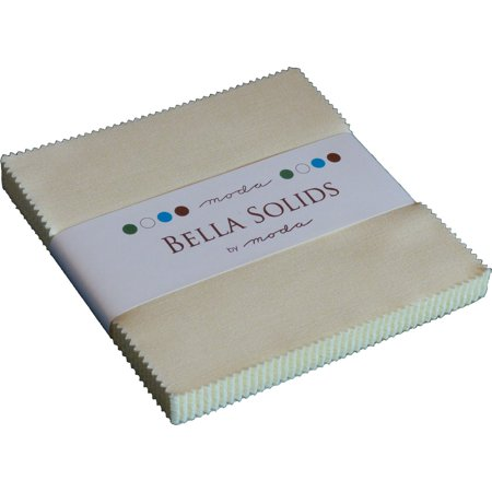 Bella Solids Snow Moda Charm Pack; 42 - 5