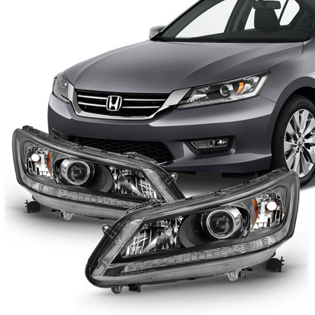 Fits 2013 2014 2015 Honda Accord 4-Door Sedan Halogen Models Headlights -