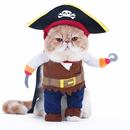 Costume For Cat (Halloween Pet Costumes Cute Cosplay Dog Cat Apparel Party Dressing up Clothing for Kittens)