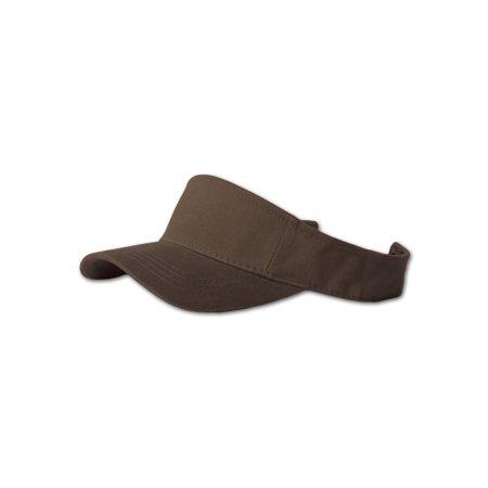 Plain Single Sports Visor- Brown