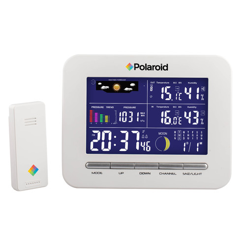 Polaroid Wireless Weather Station Clock 5 Displays White