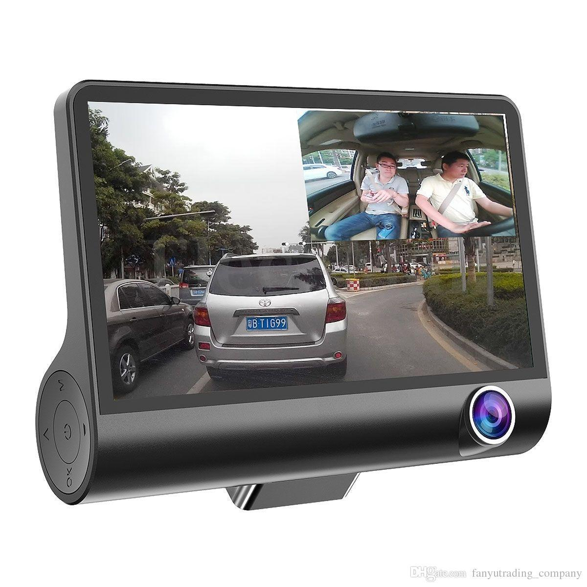 Dual Lens 4'' HD 1080P Vehicle Car Dash Cam with Rear Video Camera Recorder DVR