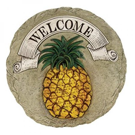 Spoontiques Pineapple Welcome Stepping Stone Pineapple Welcome Address Plaque