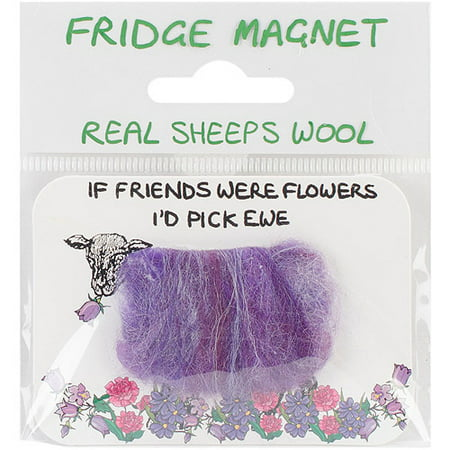 Vanessa Bee Woolly Fridge Magnet-If Friends Were Flowers