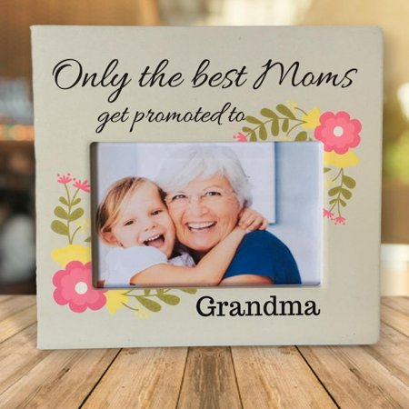 Colorful Grandma Heart Photo (Only the Best Moms - Banberry Designs Picture Frame for Grandma - Mother's Day Gift For)