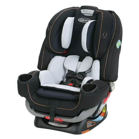 Graco 4Ever Extend2Fit 4-in-1 Convertible Car Seat, Hyde Brown