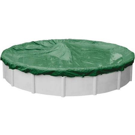Extra Heavy-Duty 20-Year Green Winter Cover for Round Above Ground Swimming Pools