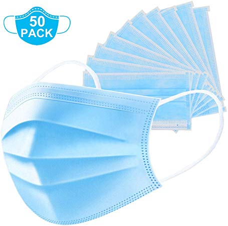 20 PCS for Home /& Office 3-Ply Breathable/  Blue