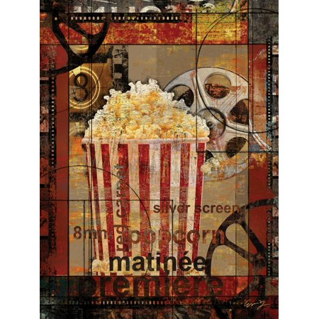 Movie Popcorn Home Theater Artwork Print Wall Art By Eric Yang