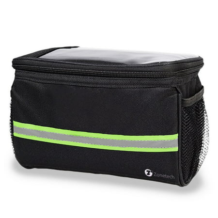 Handlebar Windshield Bag - Zone Tech Bicycle Handlebar Bag -  Handlebar Bag with Reflective Stripe for Outdoor Activity