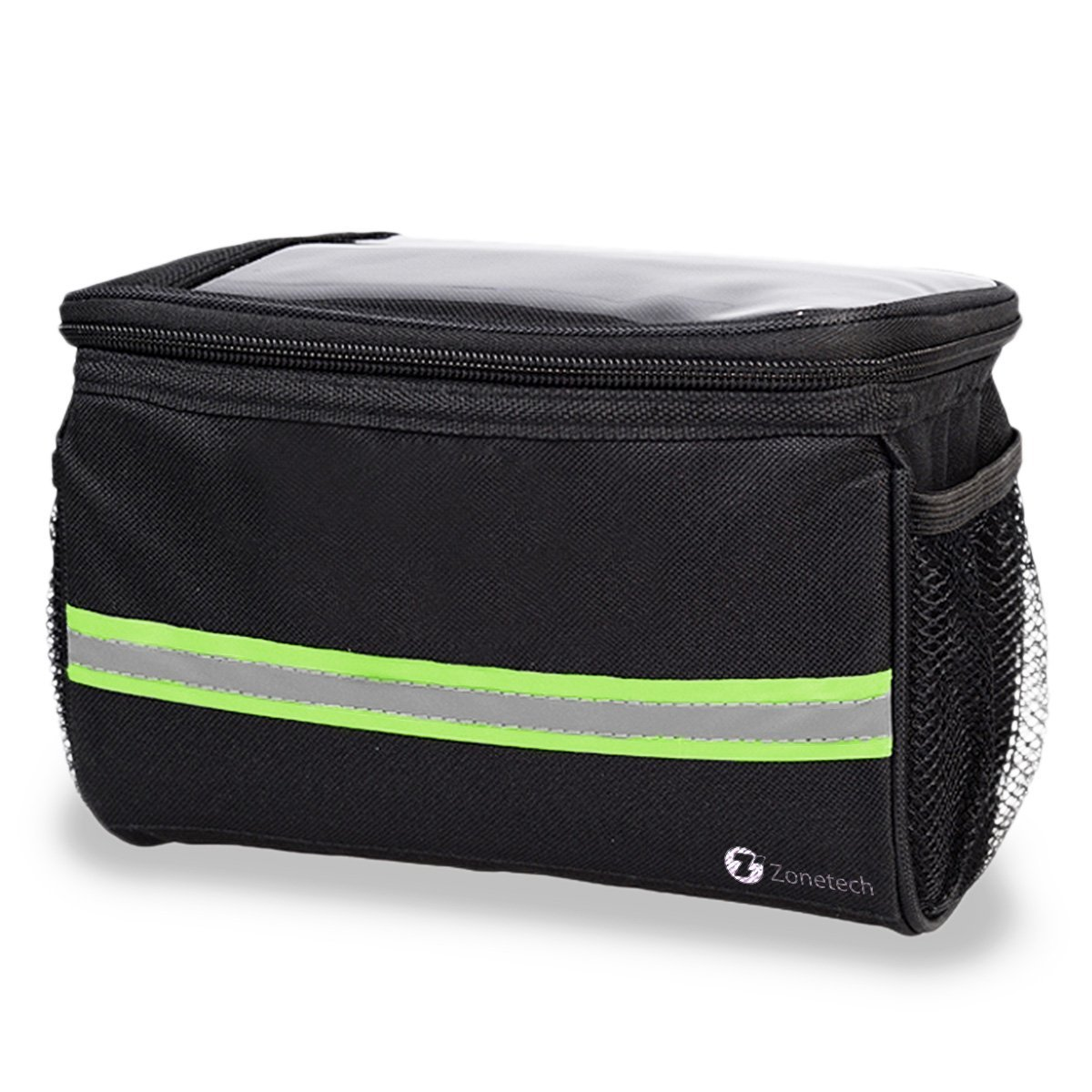 Zone Tech Bicycle Handlebar Bag -  Handlebar Bag with Reflective Stripe for Outdoor Activity