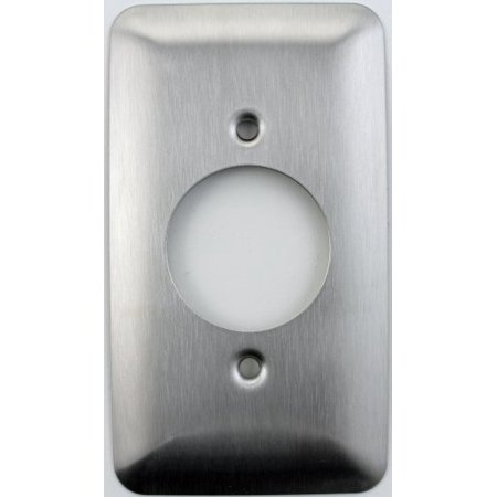 Mulberry Princess Style Satin Stainless Steel 1 Gang Switch Plate for 20 Amp Locking Electrical