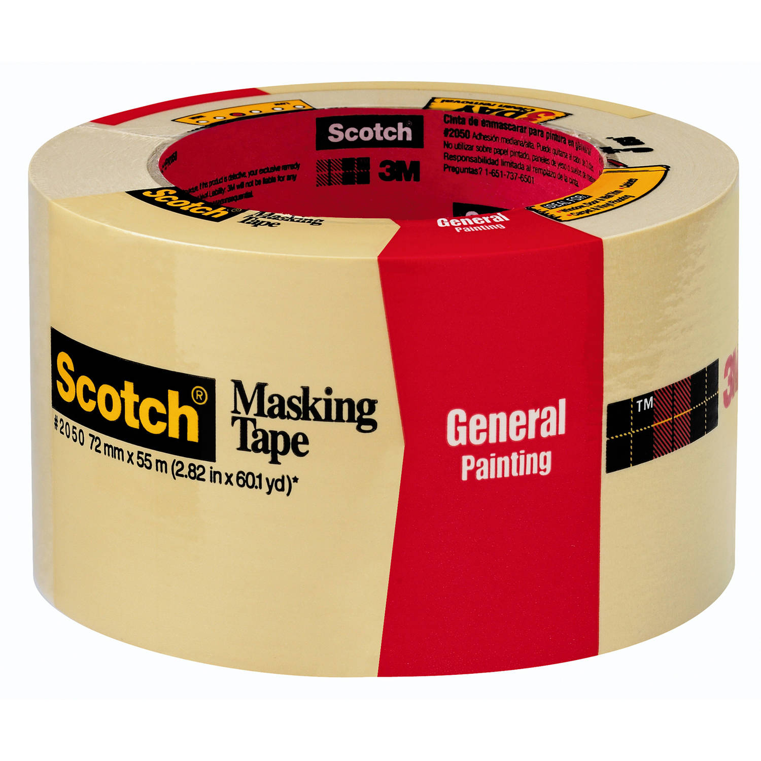 "3M 2050-72A 2.83"" Scotch Painters' Masking Tape For Trim Work"