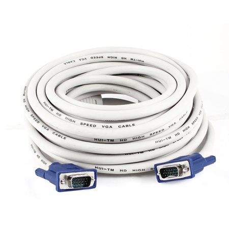 33Ft 10M Extension VGA 15 Pin Male to Female Cable for LCD Monitor Projector