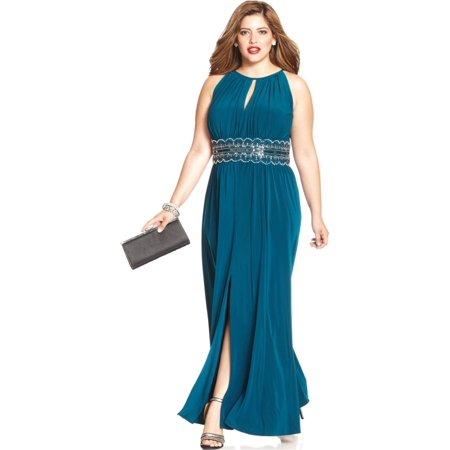 331e4cad83f98 RM RICHARDS - RM Richards Women s Plus Size Beaded Waist Halter ...