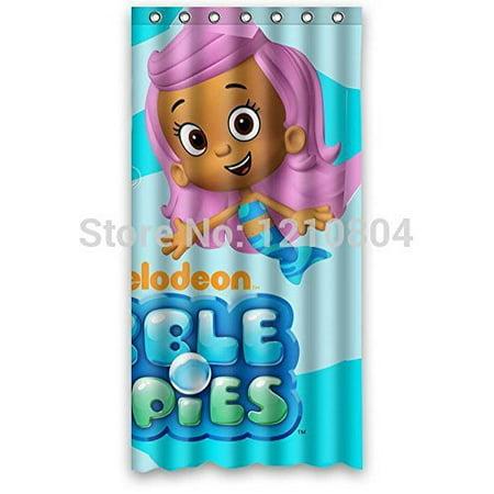 Ganma Cartoon Bubble Guppies Shower Curtain Polyester Fabric Bathroom Shower Curtain 60x72 inches