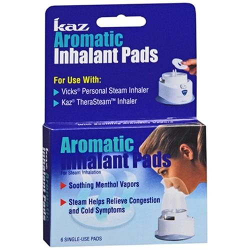 Kaz Aromatic Inhalant Pads 6 Each (Pack of 6)