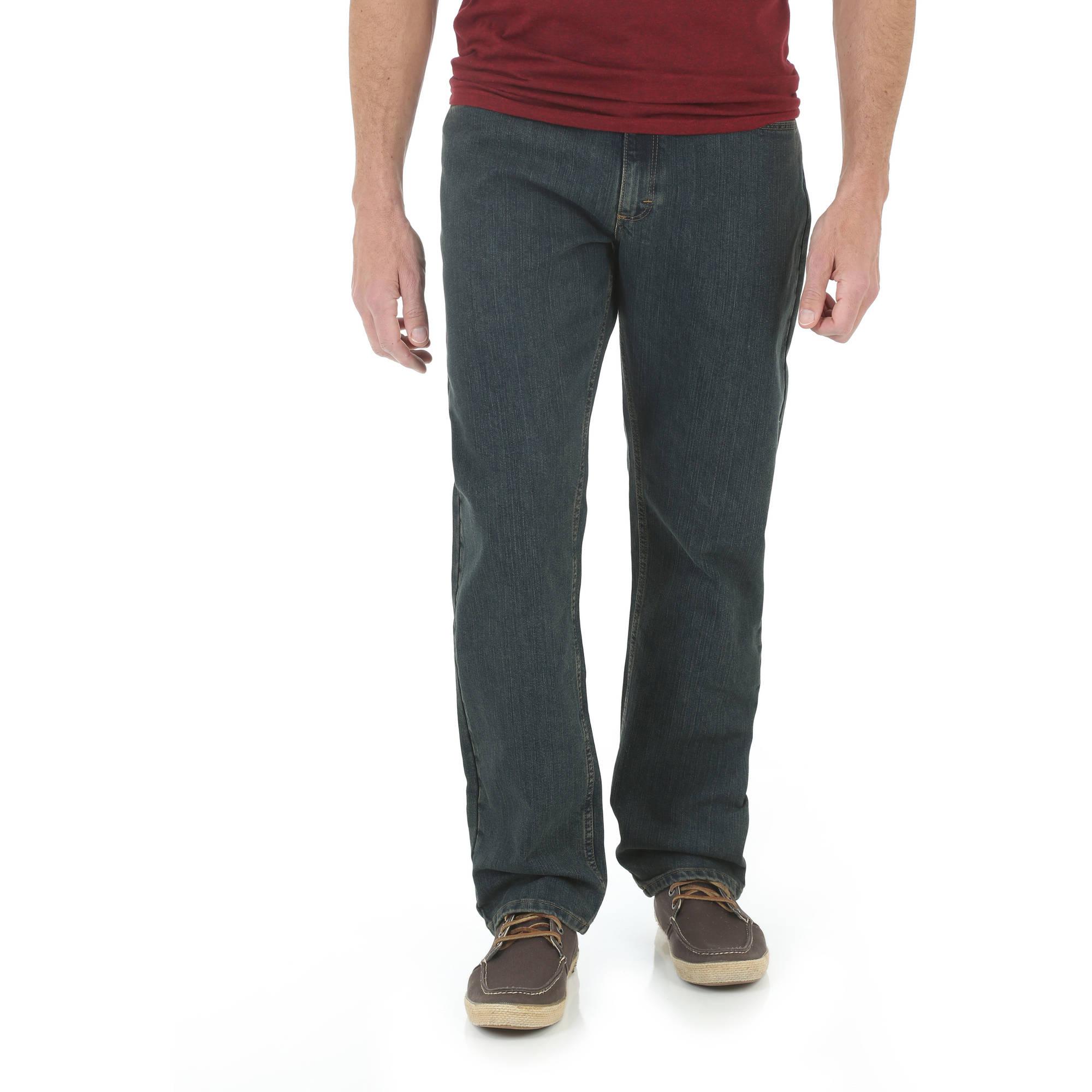 Wrangler Men's Advanced Comfort Breathe-Dri Wicking Relaxed Fit Flex Jean