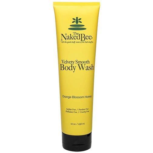 The Naked Bee Velvety Smooth Body Wash, 10 Ounce, Orange