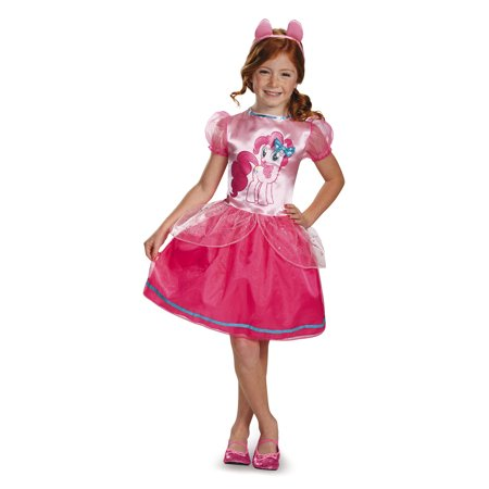 Pinkie Pie Classic Girls Costume DIS83316 - (3T-4T) - Pinkie Pie Equestria Girl Costume