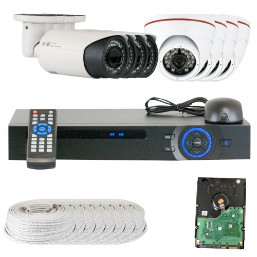 Best Sale High End Professional 8 Channel HD-CVI DVR Security Camera System with 8 x 1/2.9 HDCVI Color IR CCTV Security