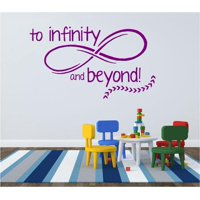 """Toy Story Vinyl Wall Decal - """"To Infinity and Beyond!"""" Movie Quote - 20""""x12"""""""